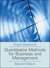 Quantitative Methods for Business and Management | Frank Dewhurst |