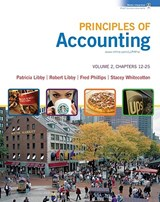 Principles of Accounting, Volume 2, Chapters 12-25 [With Workbook] | Patricia Libby |