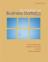 Essentials of Business Statistics | Bruce L. Bowerman |