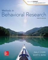 Methods in Behavioral Research | Paul C. Cozby |