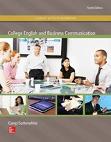 Student Activity Workbook for Use with College English and Business Communication | Sue C Camp; Marilyn Satterwhite |