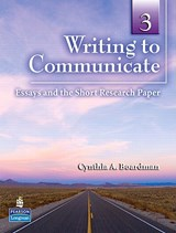 Writing to Communicate | Cynthia A. Boardman |