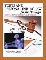 Torts and Personal Injury Law for the Paralegal | Richard Jefferies |
