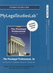 New Mylegalstudieslab and Virtual Law Office Experience with Pearson Etext -- Access Card -- For the Paralegal Professional