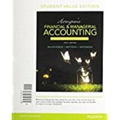 Horngren's Financial & Managerial Accounting, the Financial Chapters, Student Value Edition