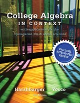 College Algebra in Context with Integrated Review Plus MML Student Access Card and Sticker | Harshbarger, Ronald J. ; Yocco, Lisa S. |