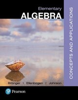 Elementary Algebra | Bittinger, Marvin L. ; Ellenbogen, David J. ; Johnson, Barbara L. |