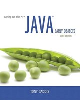 Starting Out With Java | Tony Gaddis |