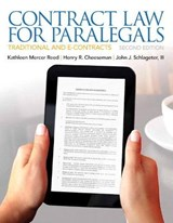 Contract Law for Paralegals | Reed, Kathleen Mercer; Cheeseman, Henry R.; Schlageter, John J., Iii |
