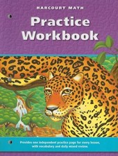 Harcourt Math Practice Workbook, Grade