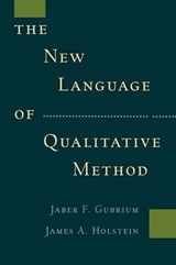 New Language of Qualitative Method | Gubrium |