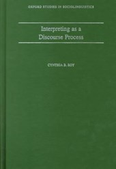 Interpreting as a Discourse Process | Cynthia B Roy |