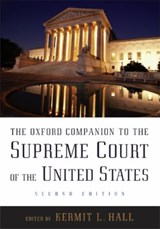 The Oxford Companion to the Supreme Court of the United States | Kermit L. Hall |