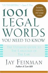 1001 Legal Words You Need to Know | auteur onbekend |