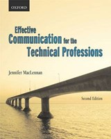 Effective Communications for the Technical Professions | Jennifer MacLennan |