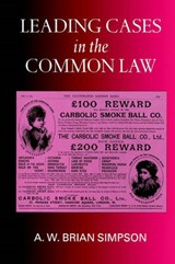 Leading Cases in the Common Law | A. W. Brian Simpson |