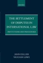 Settlement of Disputes in International Law