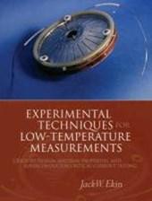 Experimental Techniques for Low-Temperature Measurements