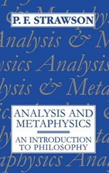 Analysis and Metaphysics | P. F. Strawson |