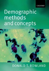 Demographic Methods and Concepts. Mit CD-ROM | Donald T. Rowland |