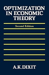 Optimization in Economic Theory | Avinash K. Dixit |