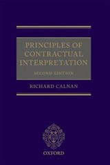 Principles of Contractual Interpretation | Richard Calnan |