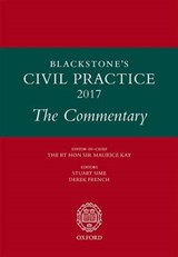Blackstone's Civil Practice 2017: The Commentary | Stuart Sime |