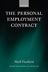 The Personal Employment Contract | Mark R. Freedland |