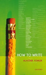 How to Write | Alastair Fowler |