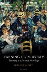 Learning from Words | Jennifer Lackey |
