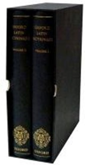 Oxford Latin Dictionary 2 Volume Set