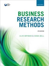 Business Research Methods | Alan Bryman; Emma Bell |