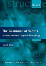 The Grammar of Words | Geert Booij |