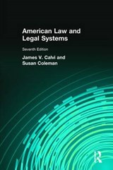 American Law and Legal Systems | James V. Calvi |