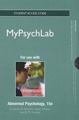 New Mypsychlab -- Standalone Access Card -- For Abnormal Psychology | James N. Butcher |