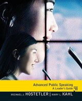 Advanced Public Speaking | Michael Hostetler |