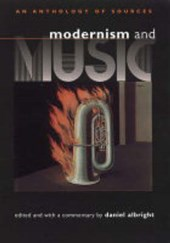 Modernism and Music - An Anthology of Sources