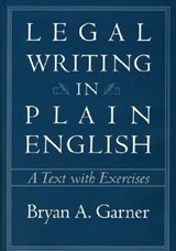 Legal Writing in Plain English - A Text with Exercises | Bryan Garner |