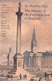 Hale, M: History of Common Law of England