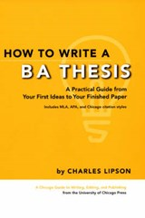 How To Write A BA Thesis | Charles Lipson |