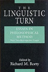 The Linguistic Turn W/2 Added Essays | Rorty |