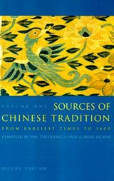 Sources of Chinese Tradition | De Bary, William Theodore ; Adler, Joseph ; Lufrano, Richard |