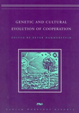 Genetic and Cultural Evolution of Cooperation | Peter Hammerstein |