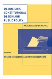Democratic Constitutional Design and Public Policy - Analysis and Evidence