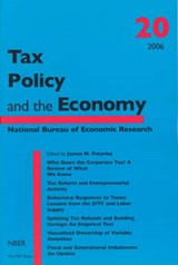 Tax Policy and the Economy V20 | James M Poterba |
