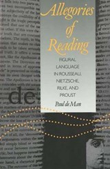 Allegories of Reading (Paper) | Michel De Man |