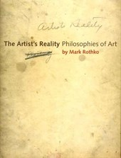 The Artist's Reality - Philosophies of Art