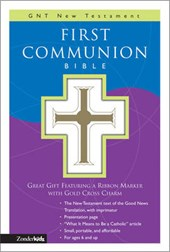 First Communion Bible-GNV-Compact [With Gold Cross Charm on Ribbon Marker]