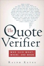 The Quote Verifier | Ralph Keyes |