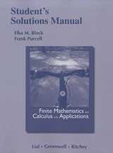 Student Solutions Manual for Finite Mathematics and Calculus with Applications | Margaret Lial |